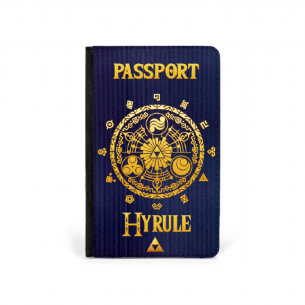 Legend of Zelda Inspired Hyrule Printed Faux Leather Passport Cover